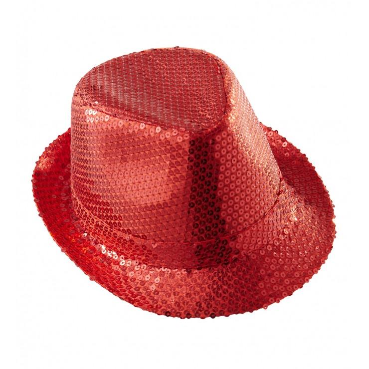 Trilby pailleté rouge