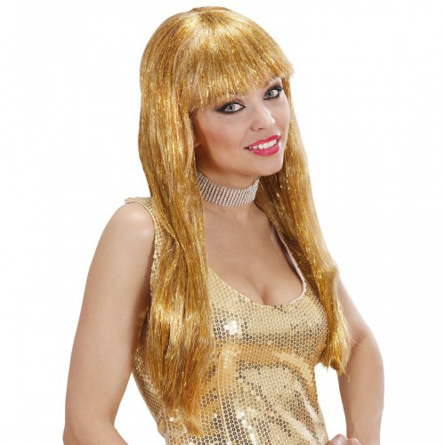 Perruque Glitzy Glamour dorée