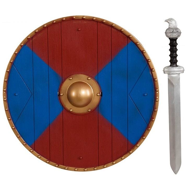Set viking bleu et rouge