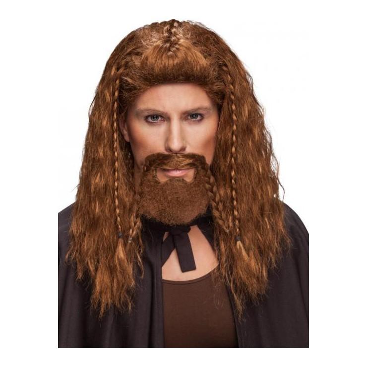Barbe rousse avec tresses