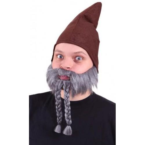 Barbe grise avec tresses