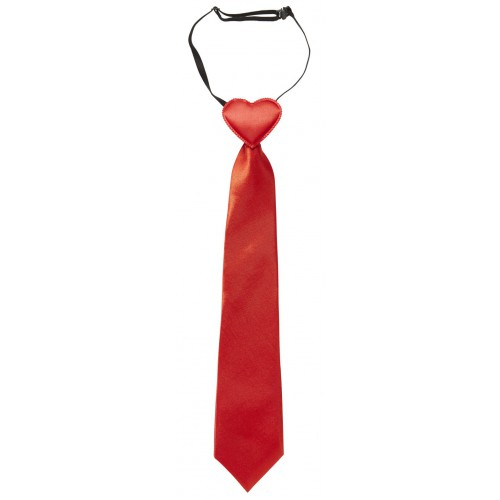 Cravate coeur rouge