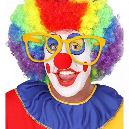 Lunettes de clown jaunes