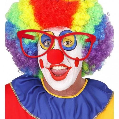 Lunettes de clown rouges