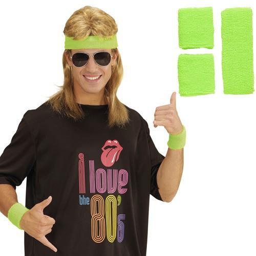 Bandeaux verts fluo années 80