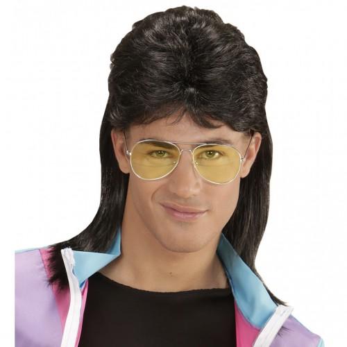 Mulet noir 80's + lunettes