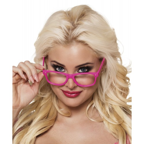 Lunettes rose fluo x4