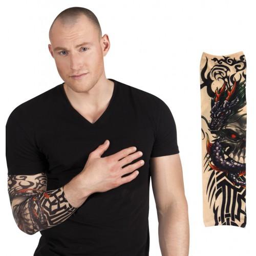 Manche tatouages Dragon skull