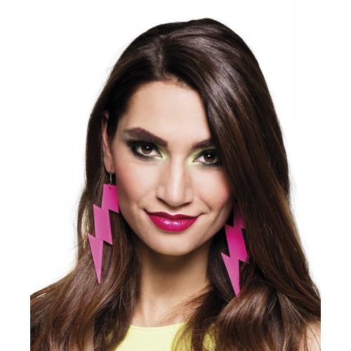 Boucles d'oreilles éclaire rose