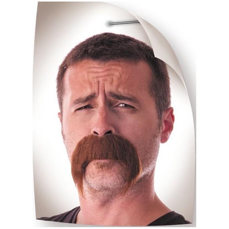 Moustache Kéké brune
