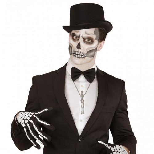 Collier squelette argenté