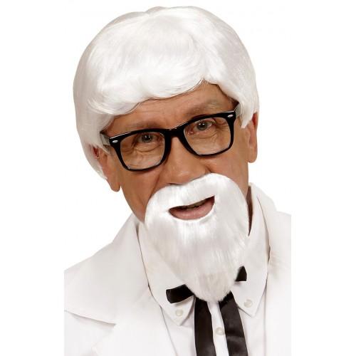 Perruque et barbe Kentucky colonel