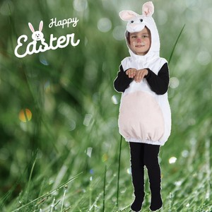 Le Lapin de Pâques va bientôt passer... 🐰 Tout le monde est prêt? 🍫🍭  Pour l'occasion on vous montre notre tout nouveau déguisement de mini lapin... 😍