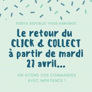 De retour avec notre Click & Collect 🥳  À vos commandes ! On a hâte de vous voir 💚